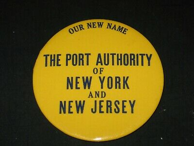 Vintage Button - The Port Authority of New York and New Jersey 1972