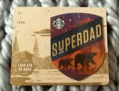 Starbucks Super Dad Fathers Day Gift Card