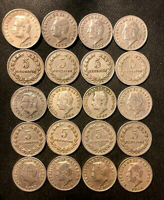 Old El Salvador Coin Lot - 1940-1977 - 20 Uncommon Coins - Lot #M25