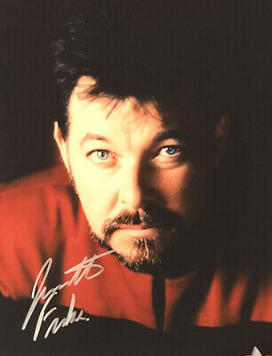 Jonathan Frakes William Wil Ryker AUTHENTIC HAND SIGNED 8x10 Photo Star Trek TNG