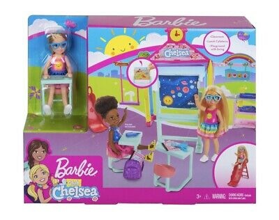 Barbie Club CHELSEA Doll with School And Playground Playset NEW FREE SHIPPING