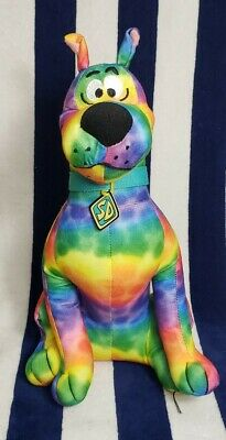 Hanna Barbera Scooby Doo Rainbow Scooby Plush Toy Rare Collectible