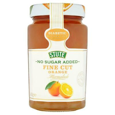 Stute No Sugar Added Fine Cut Orange Marmalade 430g (Pack of 6)