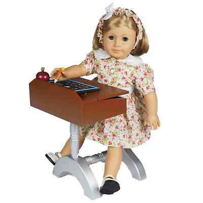 FACTORY 2ND 18 Inch Doll Furniture WOOD SCHOOL DESK & CHAIR Fits American Girl