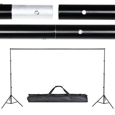 Aluminum 10x8.5 Photo Backdrop Support Stand Set Photography Background Crossbar