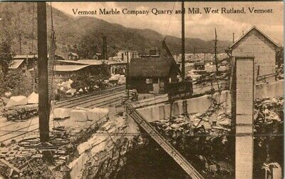 C36-4721, Vermont Marble Co. Quarry And Mill, Rutland, Vt., Postcard.