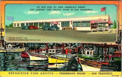 C36-4772, Exposition Fish Grotto, Fisherman's Wharf, San Francisco, Ca.,