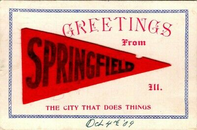 C36-4797, Greetings From Springfield, Ill., Postcard.
