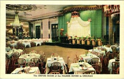 C36-4800, The Empire Room, Palmer House, Chicago, Ill., Postcard.