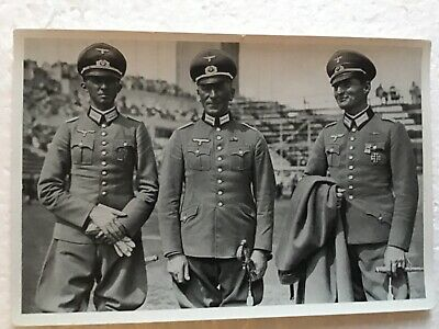 Olympia 1936 Germany Three German Gold metal Equestrion Champions Males Photo