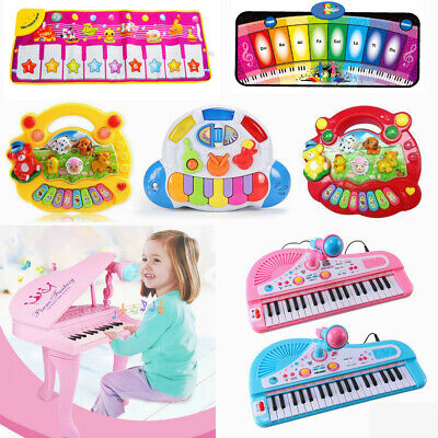 Kids Toy Simulation Piano Musical Instrument Learn Play Singing Piano Gift US