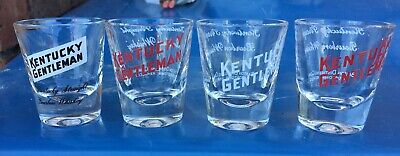 Kentucky Gentleman Advertising Bourbon Shot Glasses