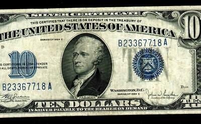 $10 1934 C  Silver Certificate * MORE PAPER CURRENCY FOR SALE
