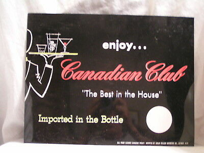 Canadian Club Whiskey Plastic Sign