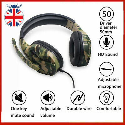 3.5mm Gaming Headset Headphones With MIC For PC Switch Laptop PS4 PS3 One PC