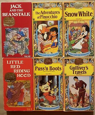 Lot of 5 Classic Video Library storybook tales on VHS
