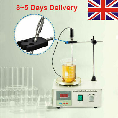 1000ml Hot Plate Magnetic Stirrer Lab Heating Dual Control Mixer 220V 300W UK