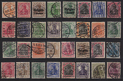 German Stamps 'Germania' Selection from Old Album GCV