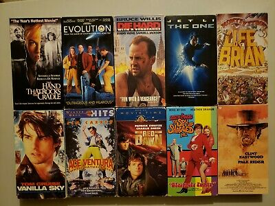 Lot Of 10 Mixed Genre Movie Classics On VHS