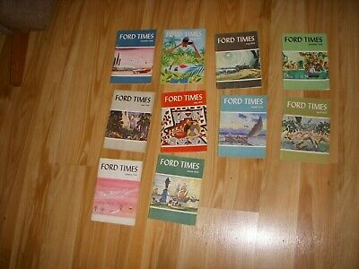 10  1956 Ford Times Magazines