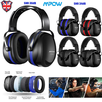 Mpow Folding Ear Defenders SNR 35dB Protectors Hearing Safety Adult For Shooting