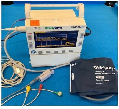 Patient Monitor Welch Allyn Propaq Encore SpO2,ECG,NIBP,Power Supply and Leads