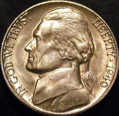 1940-S Jefferson Nickel Choice/Gem BU Uncirculated