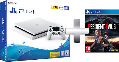 PS4 Console 500GB F ChassisSlim white + Resident Evil 3 EU