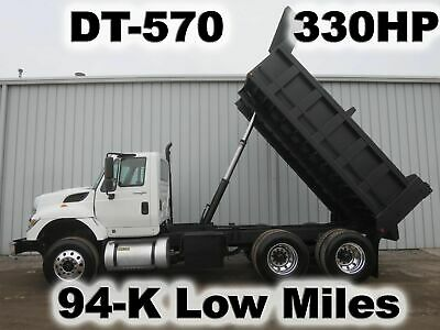 7400 Dt-570 Tandem Axle 14-Ft Dump Bed Body Haul Delivery Work Truck Low Mile