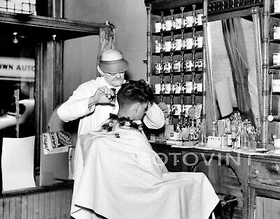 BARBER SHOP Photo Picture VINTAGE BARBERSHOP Print HAGERSTOWN MARYLAND MD 8x10