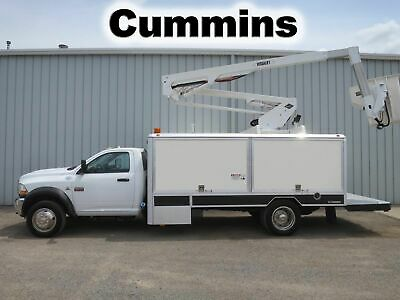 Ram 5500 Cummins Versalift Bucket Boom Omni Lift Lighting Utility Service Truck