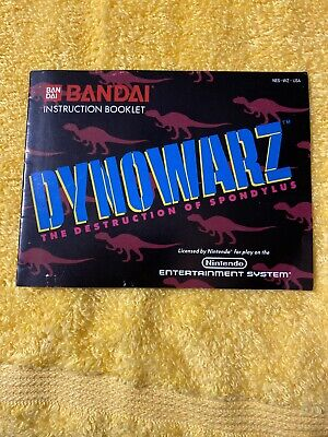 Dynowarz Instruction Booklet Only Nintendo NES Book Only Free Shipping Used