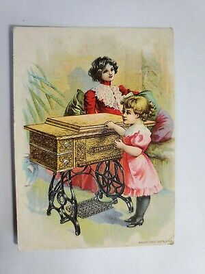 Late 1800's Trade Card Standard Rotary Shuttle Sewing Machine NO Reserve