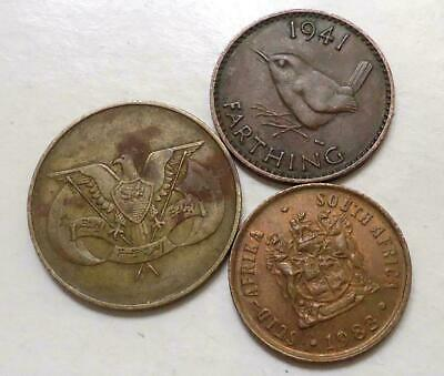 World Coins Lot Of 3, See Pics 0.99 Cents Auction & Free Shipping (#56)