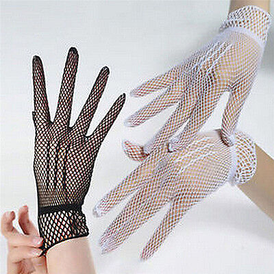 Hot Sexy Women's Girls' Bridal Evening Wedding Party Prom Driving Lace Gloves_JO