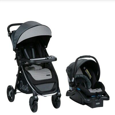 Monbebe- Baby Dash All-In-One Travel System Stroller & Car Seat, Gray (New)