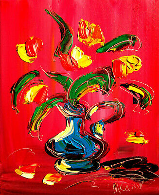 FLORAL  ART Modern Abstract Oil Painting Original Canvas Wall Decor CANADIAN