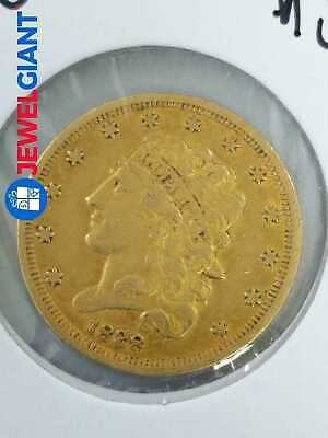 1838 US GOLD $5 CLASSIC HEAD COIN HALF EAGLE VERY RARE HARD TO FIND #bk496