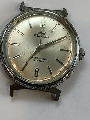 Vintage Westclox Stainless Steel 21 Jew  Fancy Lugs Men's Watch