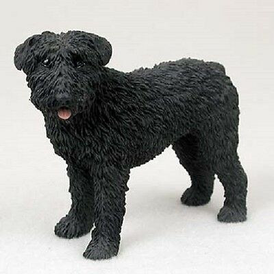 BOUVIER Dog HAND PAINTED FIGURINE Resin Statue COLLECTIBLE uncropped puppy New