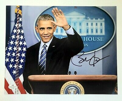 Barack Obama Hand-Signed, Autographed Photo with Certificate of Authenticity