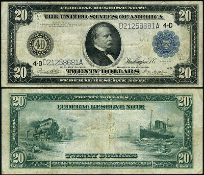 FR. 979 A $20 1914 Federal Reserve Note Cleveland VF