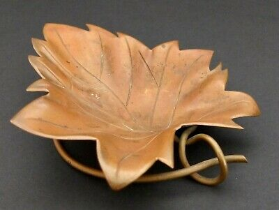 Hector Aguilar Taller Borda Taxco Mid-Century Modernist Copper Leaf Dish Or Tray