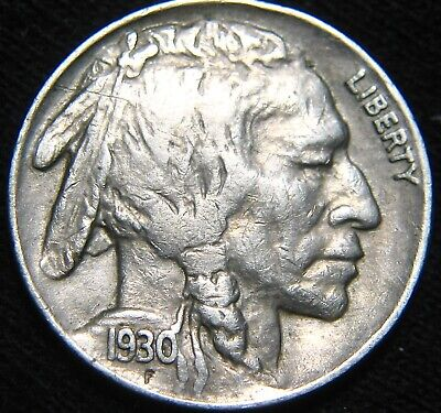 Original FULL HORN 1930-P BUFFALO NICKEL 5¢ Combined S&H Available GC90IP