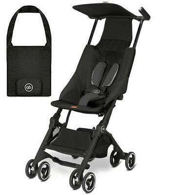 Goodbaby GB Pockit Compact Stroller in Monument Black with Free Travel Bag!