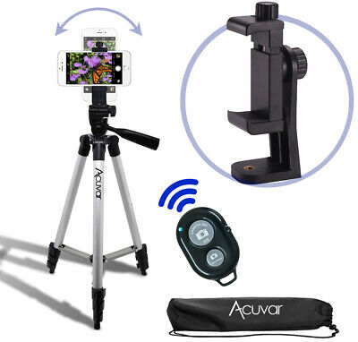 """50"""" Smartphone Tripod. Rotating Mount, Wireless Remote for iPhone 11 Pro Xs 8+"""