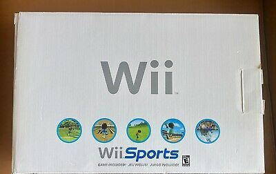 Nintendo Wii Original White Wii Sports Console BOX ONLY