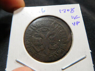 M26 Russian Empire 1708 Kopek VF