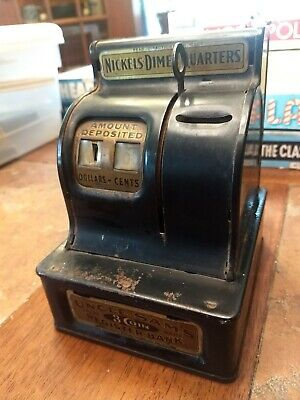 Vintage Uncle Sam's 3 Coin Register Bank Working Durable Toy & Novelty Corp 7-36
