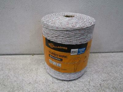 """Gallagher G62089 2.5mm/3/32"""" Electric Fence Turbo Wire 2625FT Ultra White"""